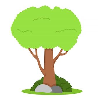 草の上の木