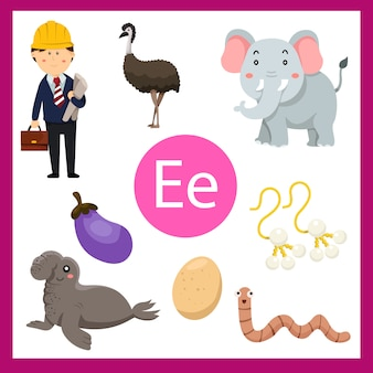 Элементы е алфавита для детей