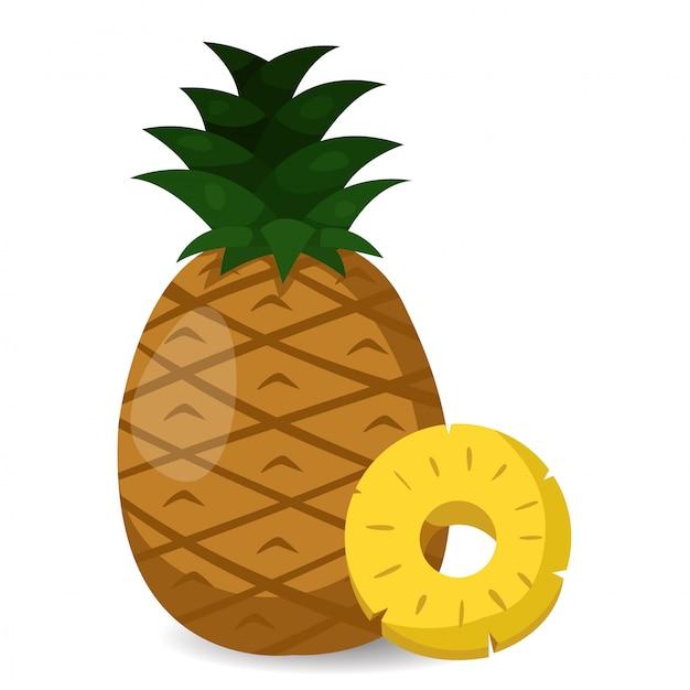 パイナップルのイラストレーター