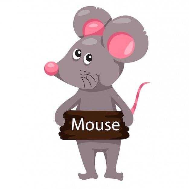 マウス動物のイラストレーター