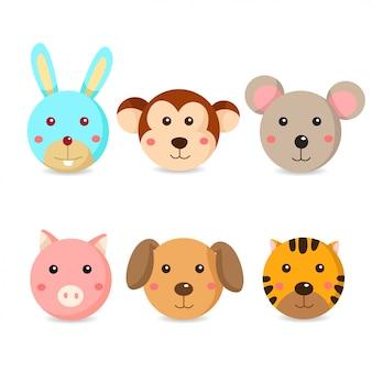 動物の顔のイラストレーター
