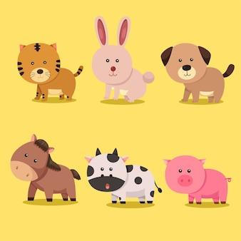 動物の十二支と占星術のイラストレーター