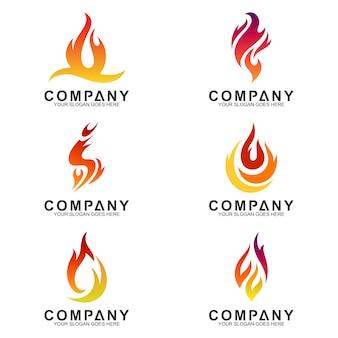 Огненная коллекция логотипов
