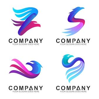 エレガントなワシのロゴデザイン