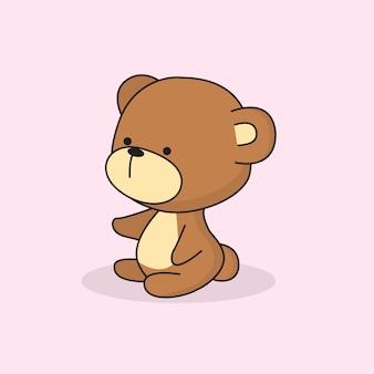 かわいい赤ちゃんクマベクトル