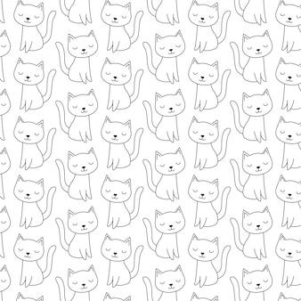 かわいい落書き猫柄