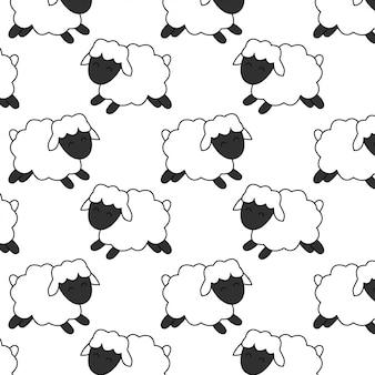 かわいい赤ちゃん羊パターン