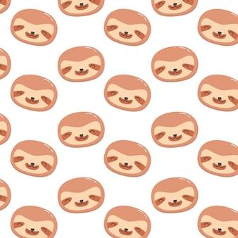 かわいい赤ちゃんナマケモノパターン
