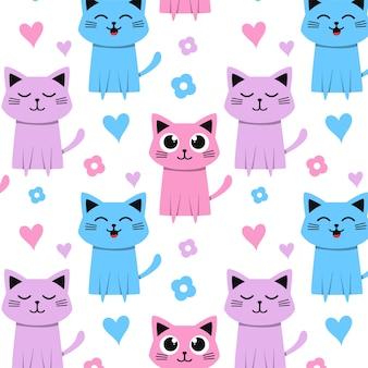 かわいいかわいい猫のパターン