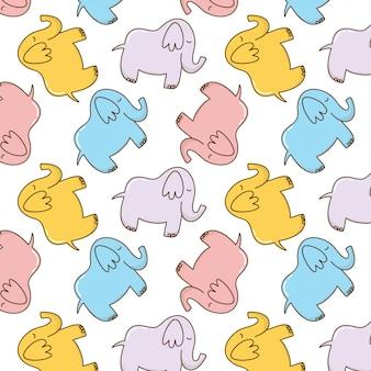 かわいいカラフルな赤ちゃん象