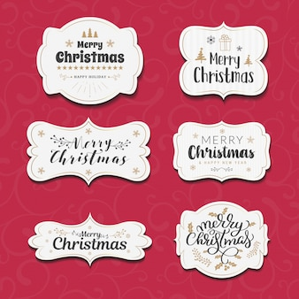 クリスマスラベルデザイン。