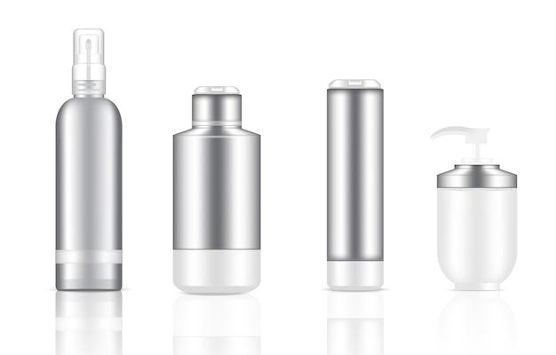 Макет реалистичных бутылочек для косметических насосов