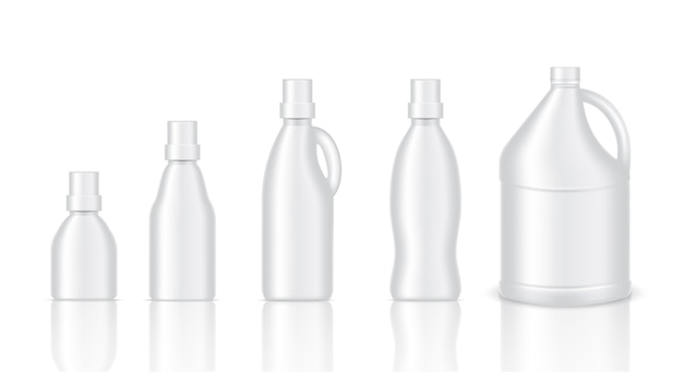 現実的なプラスチックガロン包装をモックアップ