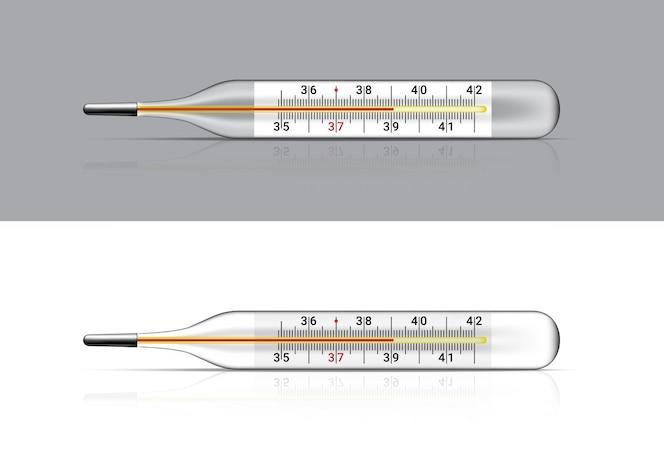 Макет реалистичный термометр медицинский для проверки на лихорадку. больница тоже