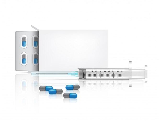 Реалистичные бутылки капсулы таблетки медицины