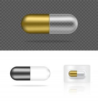 銀の薬-錠剤-透明