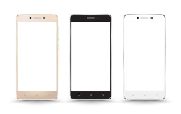 新しいリアルな携帯電話のスマートフォンモックアップ