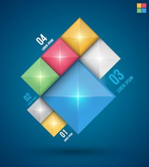 現代の四角形のデザインバナー