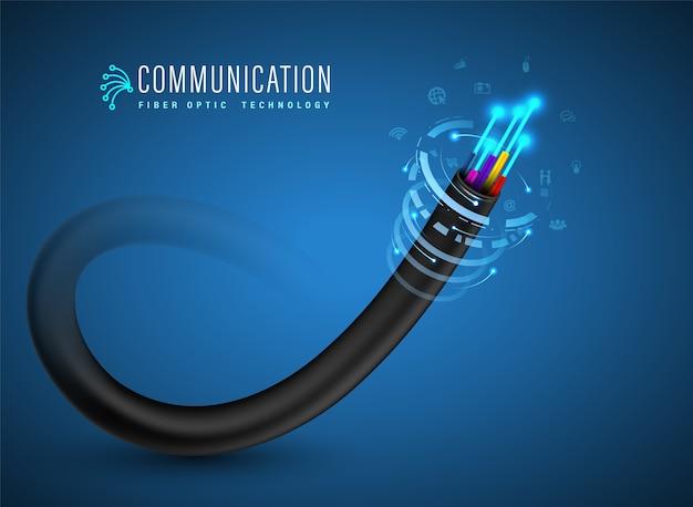 Концепция подключения оптоволоконного кабеля