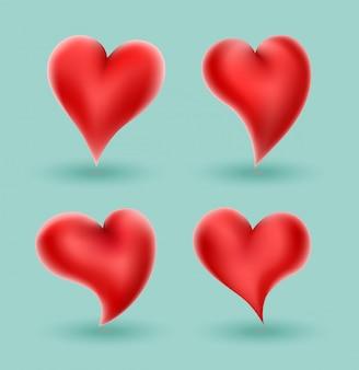 愛の概念の結婚式のための心のベクトル図