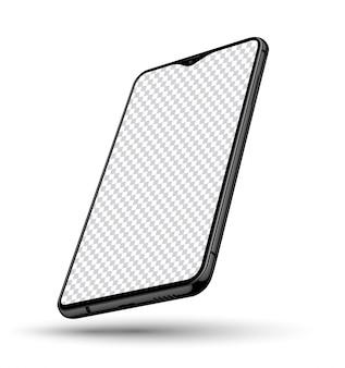 Реалистичный макет смартфона с прозрачным экраном