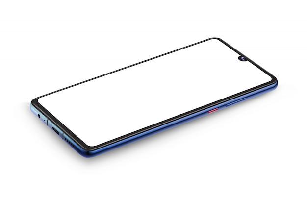 リアルなスマートフォンのモックアップ透明スクリーン