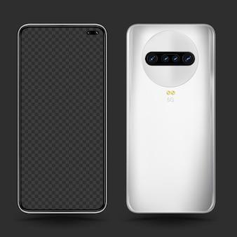 スマートフォンの現実的なテンプレート