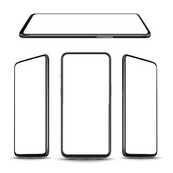 スマートフォンのモックアップ。