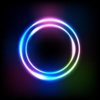 Световой эффект градиента круга на темноте