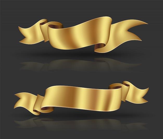 ゴールドリボンバナーセット