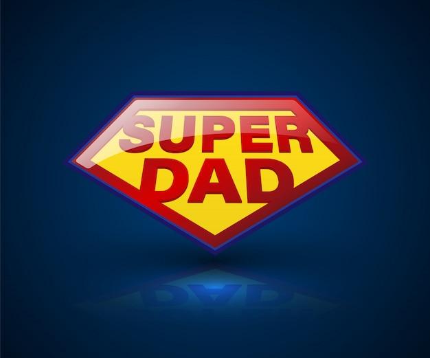 要素の父の日のためのスーパーパパッドシールドシンボル