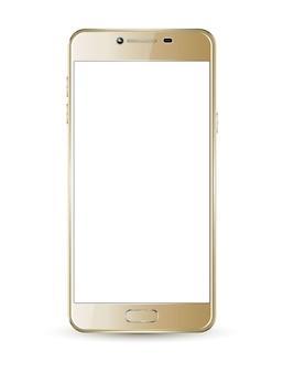 ゴールドスマートフォンモックアップ
