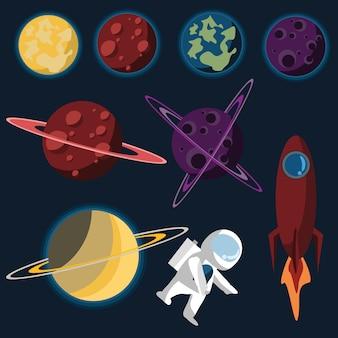 スペースセットのベクトル図