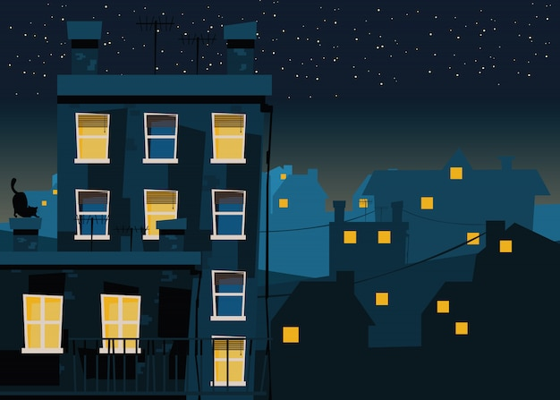 Город по ночам
