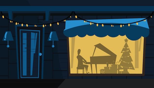 クリスマスパーティー、ベクトル、イラスト