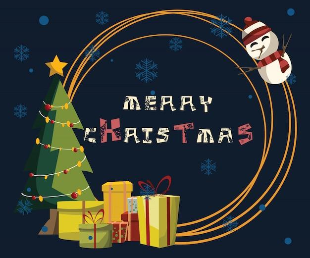 クリスマスと新年の背景ベクトル図