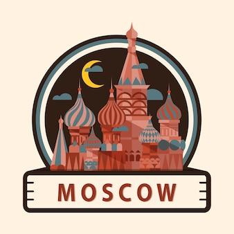 Значок города москвы, россия