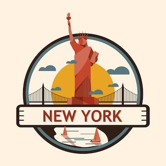 Значок города нью-йорка, соединенные штаты америки