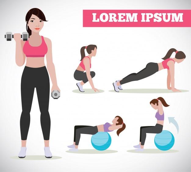 Тренажерный зал девушка делает упражнения