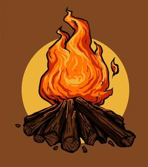 たき火のベクトル