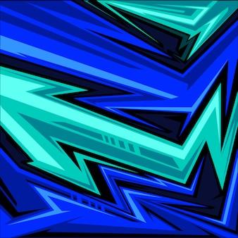 Спортивного трикотажа абстрактный стрелка линии графический рисунок