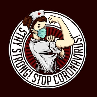 強力なストップコロナウイルスデザインを維持する