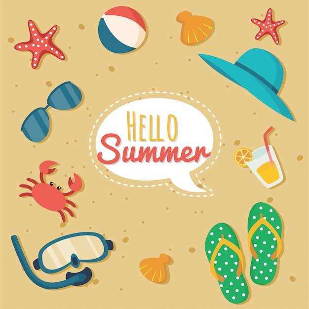 ビーチ要素の夏