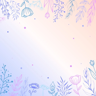 Симпатичная винтажная рамка из цветочных элементов
