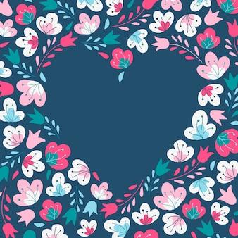かわいい花のフレーム