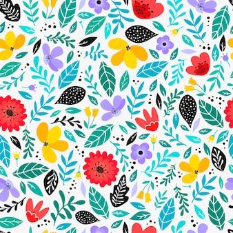 シームレスなスカンジナビアの花柄