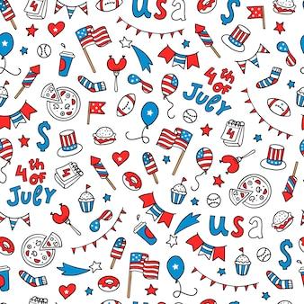 独立記念日のシームレスパターン