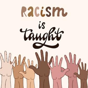 創造的な反人種差別主義者の引用。ブラックライブマター