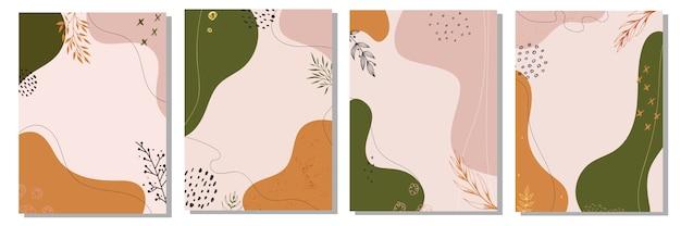 抽象的な花の背景のセット