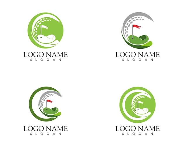 ゴルフアイコンロゴデザインのベクトル図